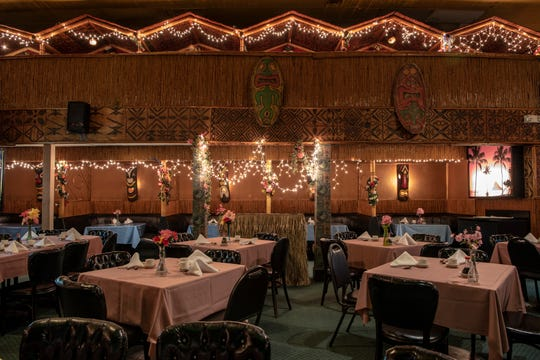 The dining room in Lee's Hawaiian Islander in Lyndhurst on Tuesday February 12, 2019.