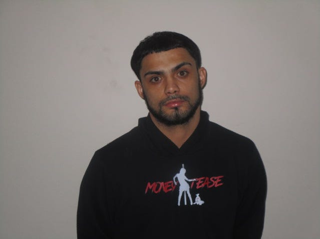 Michael Galvez of  New York ,NY was charged with conspiracy to commit forgery and theft by deception after using counterfeit $100 bills.