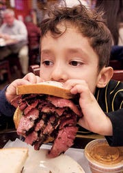 It's a two fisted sandwich at Katz's Deli in NYC
