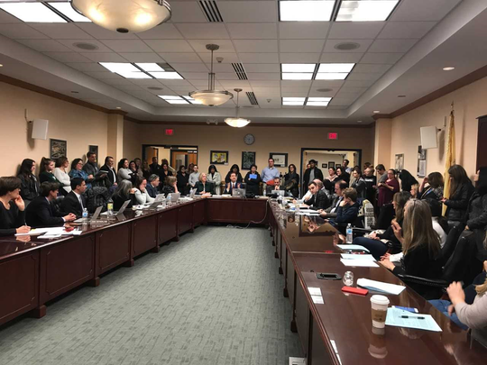 It was standing-room-only at the Ramapo Indian Hills school board meeting as parents questioned a proposed consolidation of teacher supervisors on Monday.