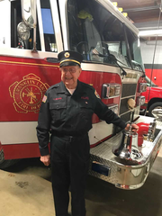 Fireman Jack Willer celebrated his 98th birthday with a party at the Franklin Lakes firehouse Monday.