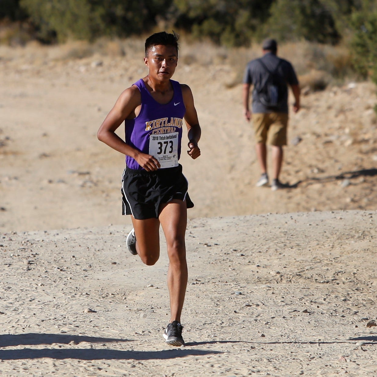 Kashon Harrison again named NM's top runner