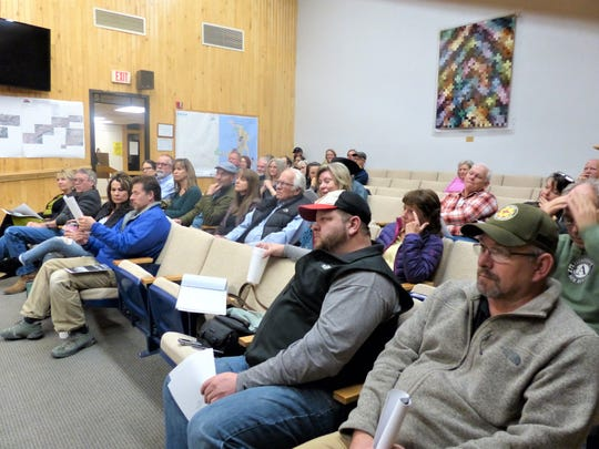 Attendees included residents of Moon Mountain, members of the parks commission and of the village council, cyclists, horse owners and those interested in protecting natural resources and managing the forest.