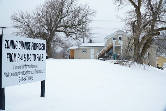 This home and its property at 2205 Old Novi Road has been proposed to have a zoning change by the city of Novi.