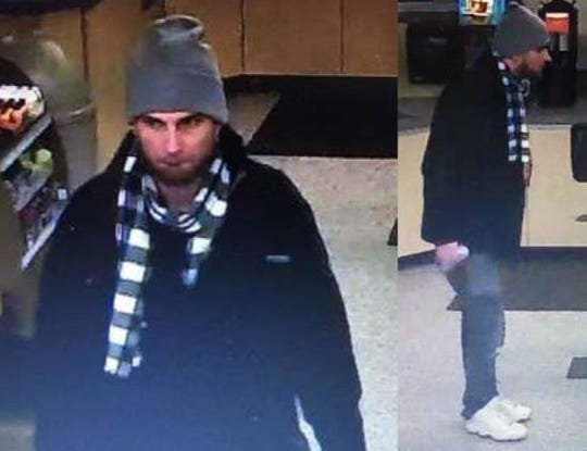 Bloomfield Township police say this man broke into several cars near Woodward Avenue and Square Lake Road and took items.