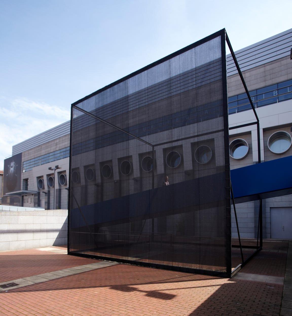 """""""Cuadrado Negro,"""" 2013 by Pia Camil at Basque Museum-Center of Contemporary Art"""