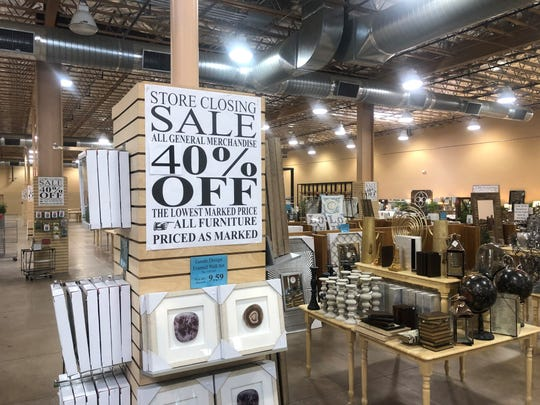 The Alley is closing its last store in Indio; merchandise is steeply discounted.