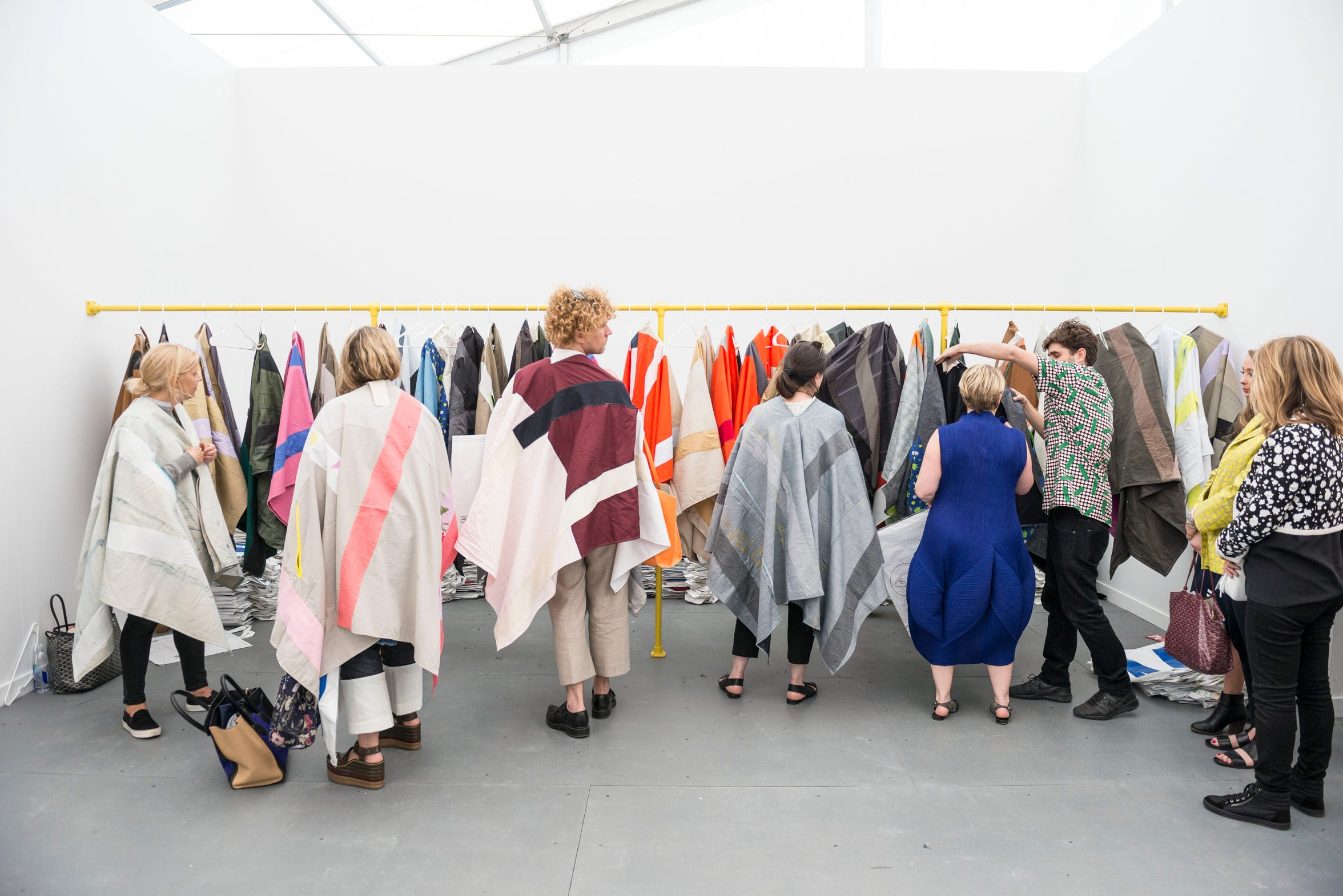 """Wearing – watching,"" 2015 by Pia Camil, commissioned and produced by Frieze Art Inc for Frieze Projects New York."