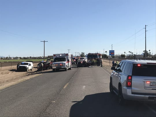 Three people died after a head-on collision in Arizona City, Monday afternoon.