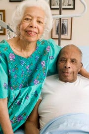 1936 Olympic gold medalist John Woodruff with his wife Rose Woodruff in July 2006 at their home in Fountain Hills.