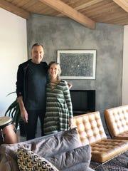 Homeowners Steve Kreis and Leila Bakkum.