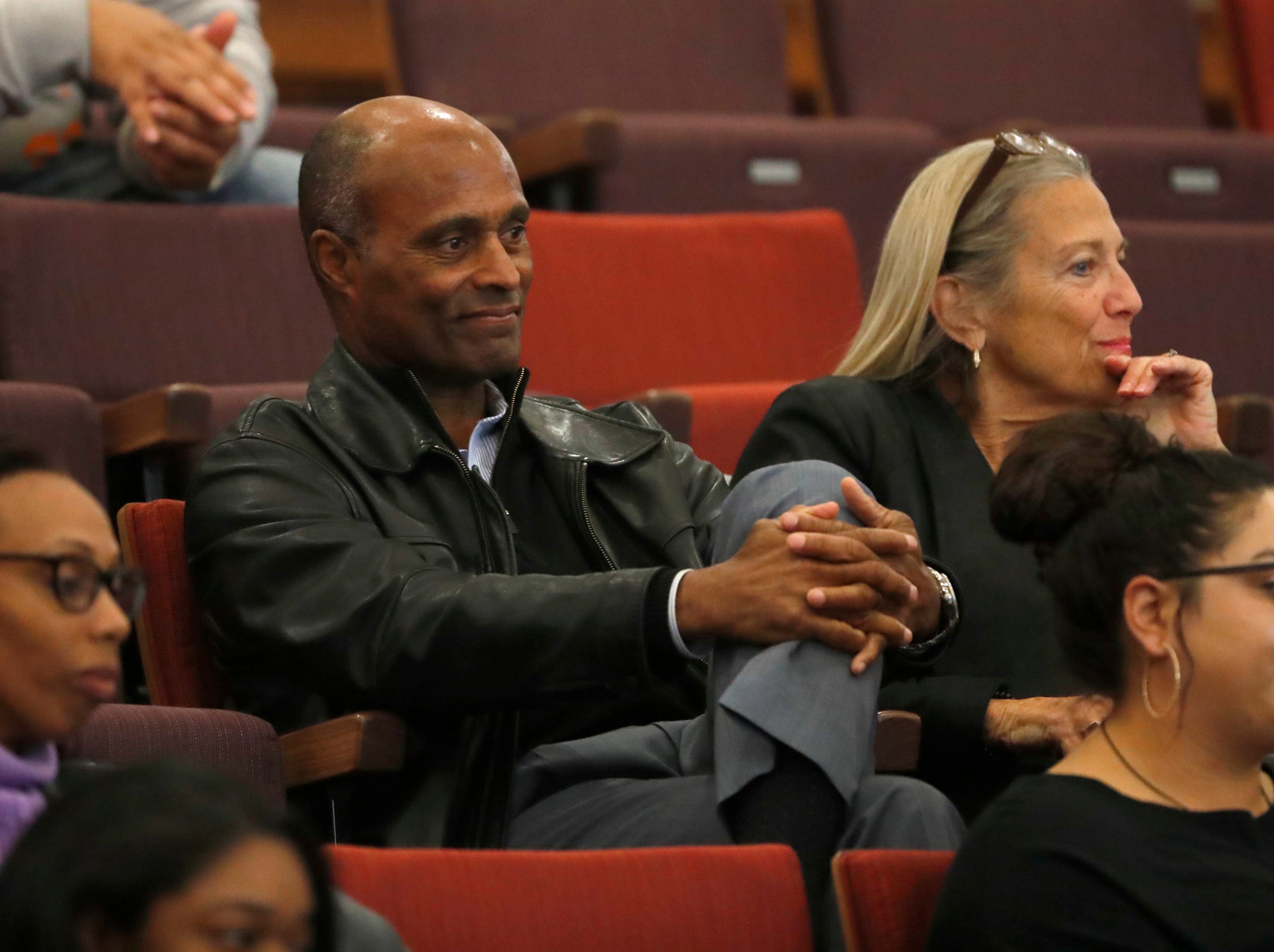 ASU athletic director Ray Anderson listens during a documentary screening and discussion of The Renaissance Period of the African American at Beus Center for Law and Society in Phoenix, Ariz. on February 11, 2019.