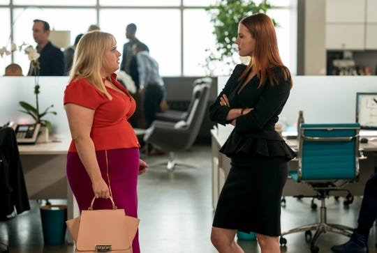 "Rebel Wilson (left) and Betty Gilpin star in ""Isn't It Romantic."""