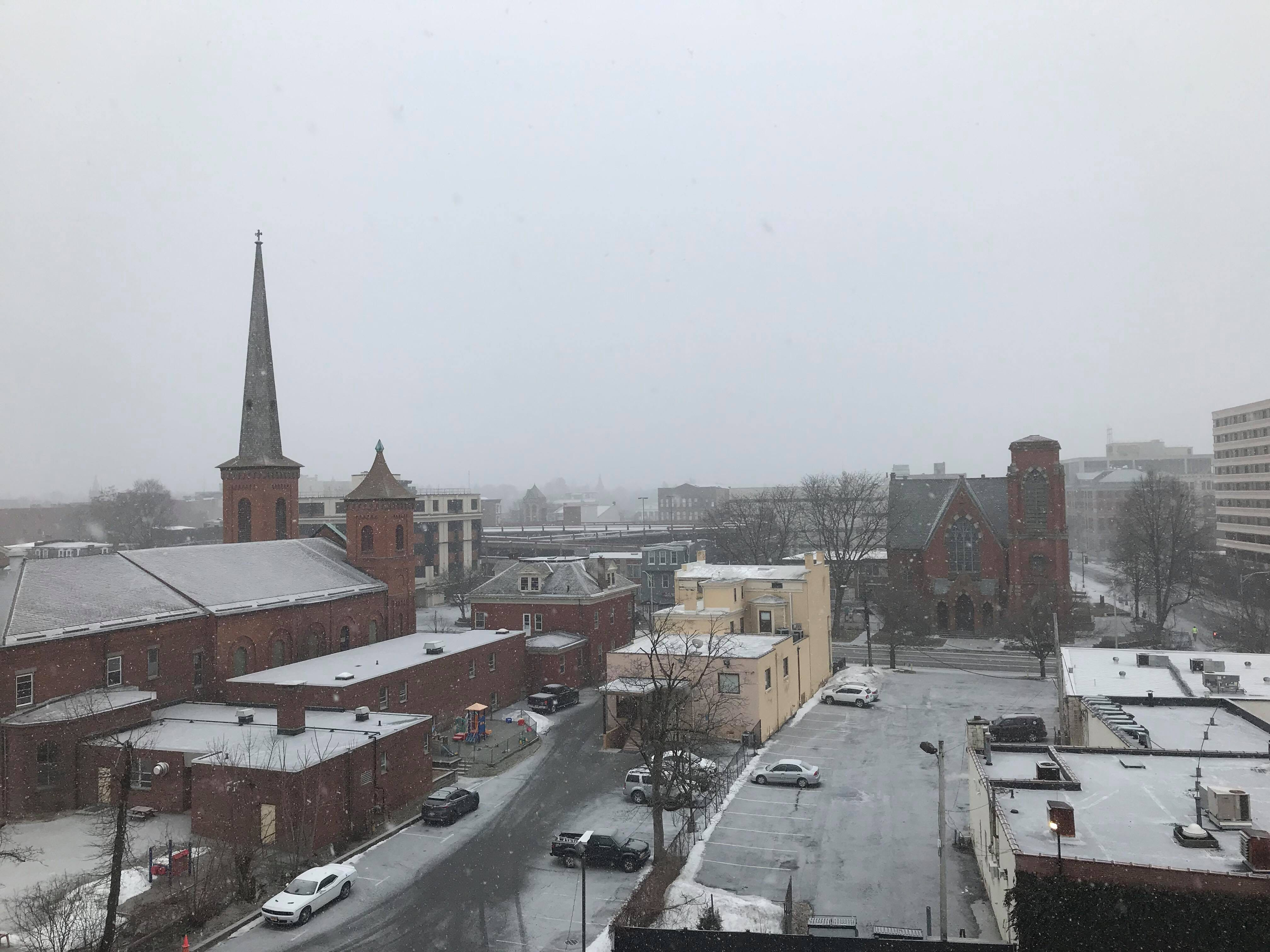 A winter weather warning is in effect until 6 a.m. Wednesday. Snow is falling in the City of Poughkeepsie as seen on Tuesday, Feb. 12, 2019. An estimated 6 to 8 inches of snow is forecasted for the mid-Hudson region.