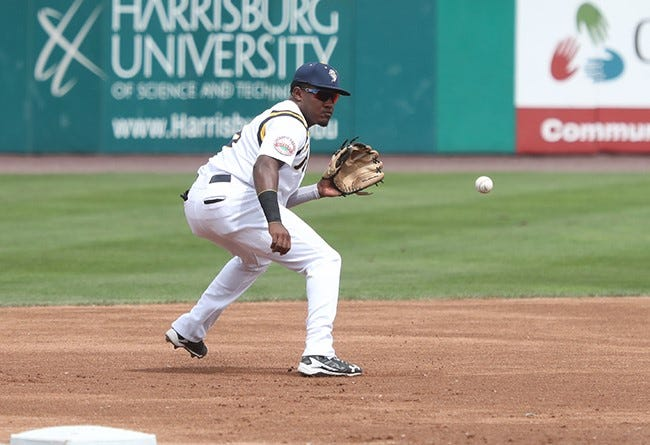 Henry Castillo, seen here in a file photo, belted a three-run homer on Sunday's in the York Revolution's 10-1 win over the New Britain Bees.