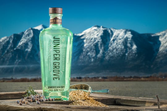 Juniper Grove American Dry Gin from Bently Heritage Estate Distillery of Minden is distilled from grains grown on the Bently cattle ranch outside the Northern Nevada town.
