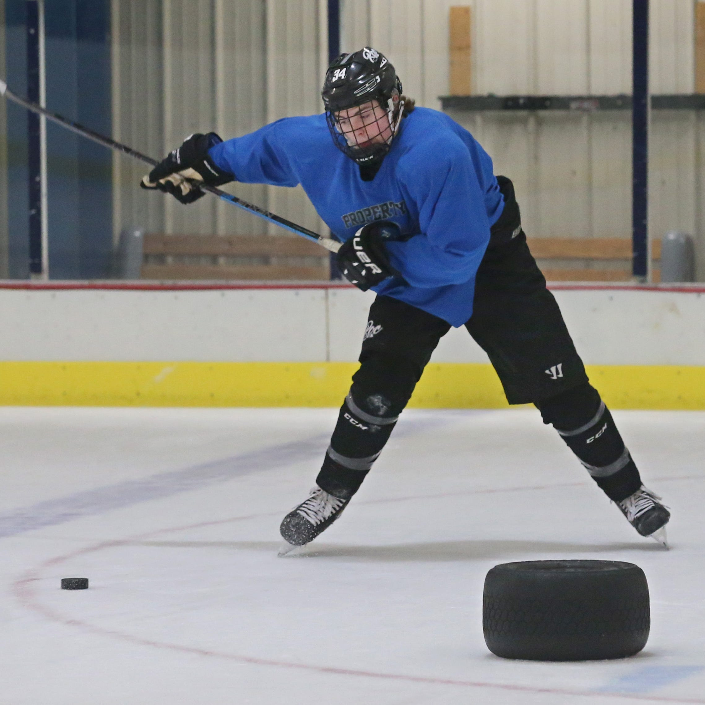 Blake Humphrey, RIT's resilient hockey recruit, carries his inspiration on his back