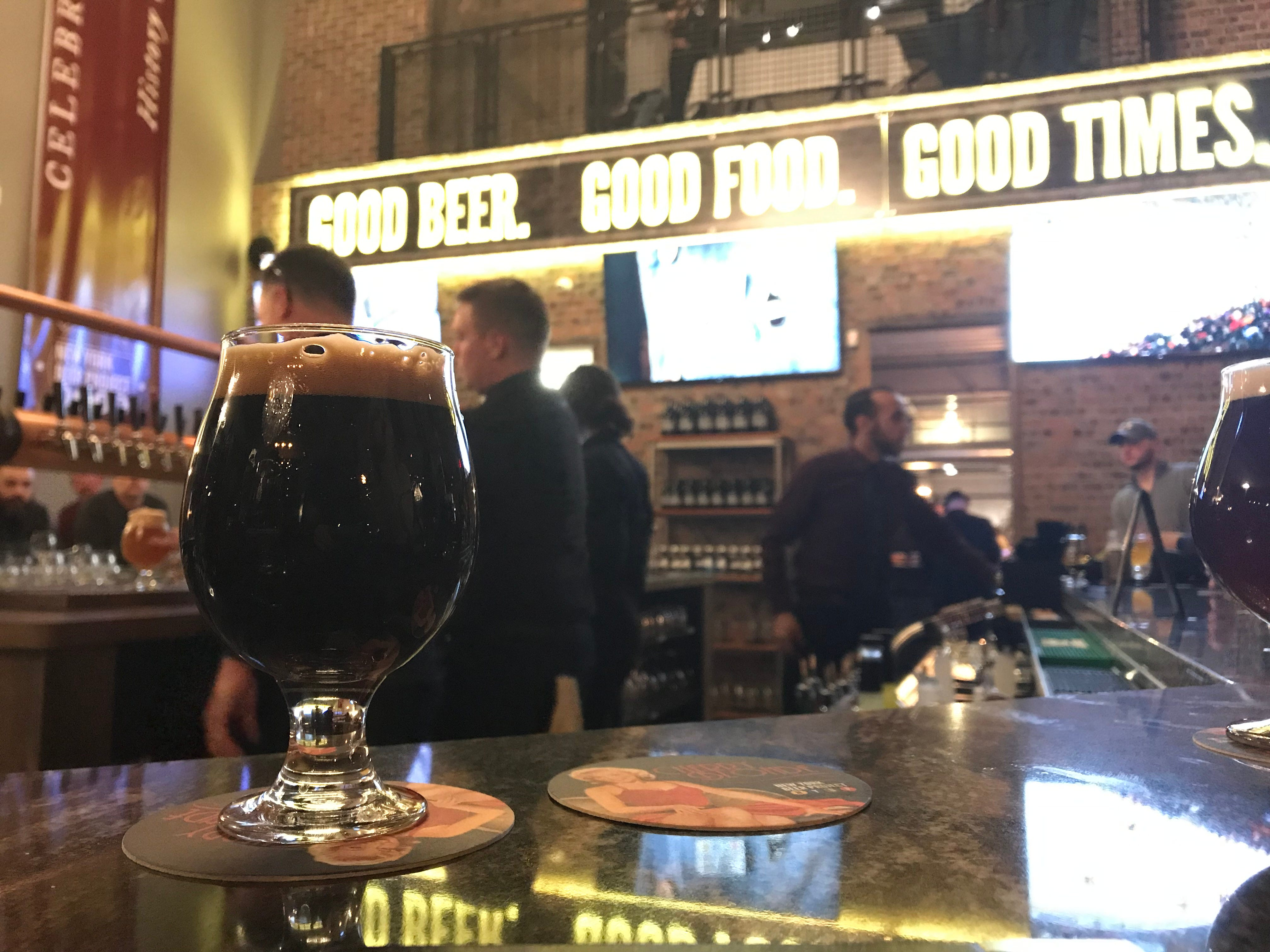 Iron's Gate, a barrel-aged imperial stout, at the New York Beer Project in Victor.