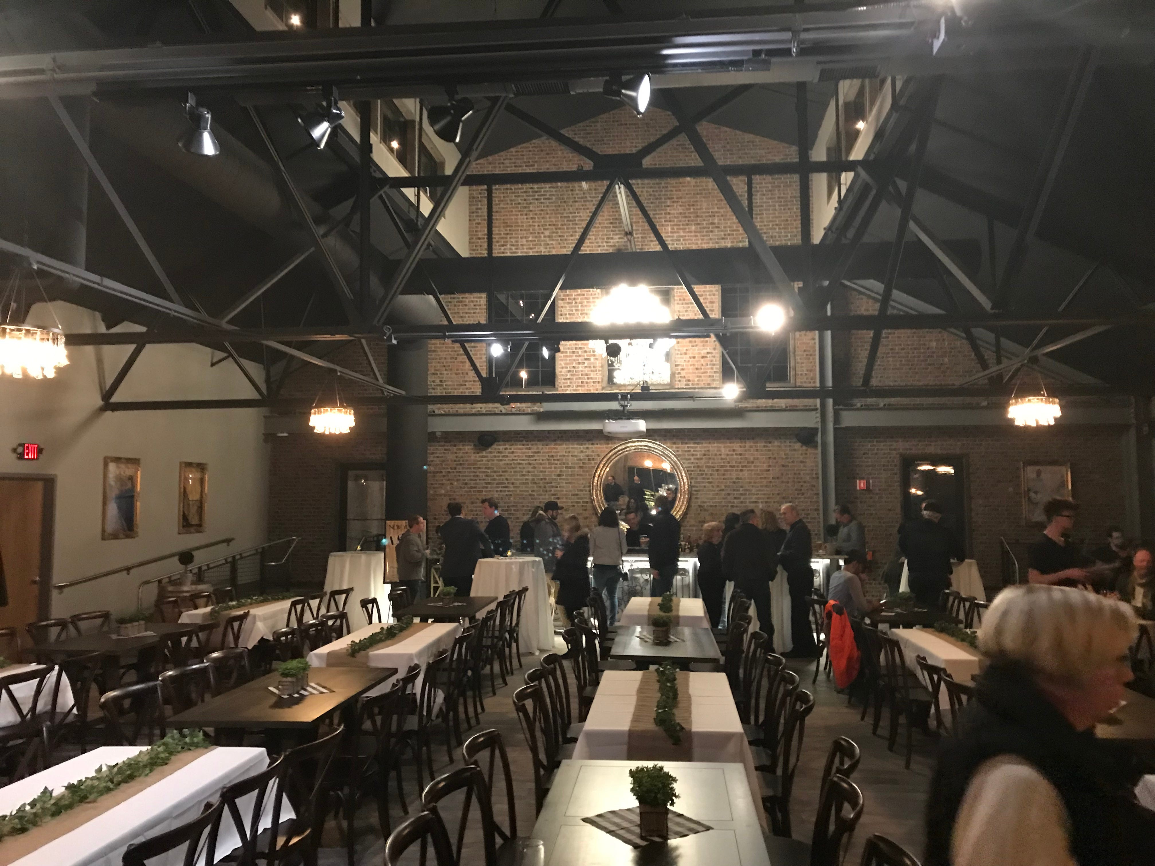 The second-floor event space at the New York Beer Project in Victor features a private bar and access to a rooftop patio.