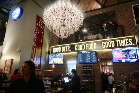 The main bar area at the New York Beer Project in Victor.