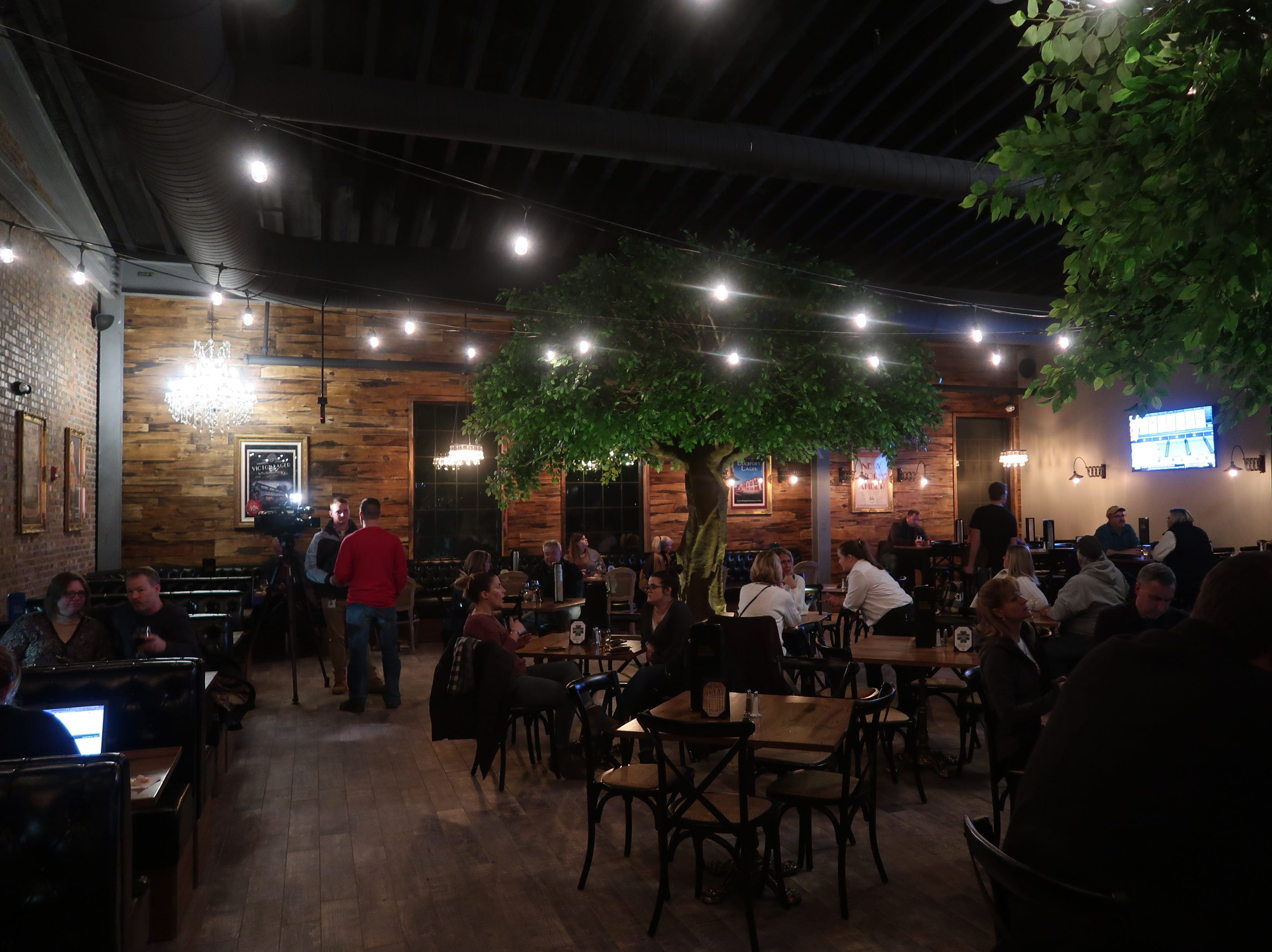 The main dining area at the New York Beer Project in Victor.