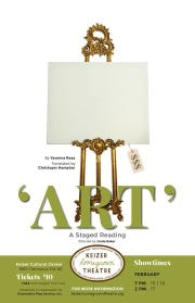 "Keizer Homegrown Theatre is presenting a staged reading of ""Art"" Feb. 15-17.​​​​​​​"