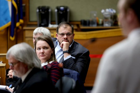 Salem city councilors listen to public testimony during a Salem City Council meeting on Monday, Feb. 11, 2019.