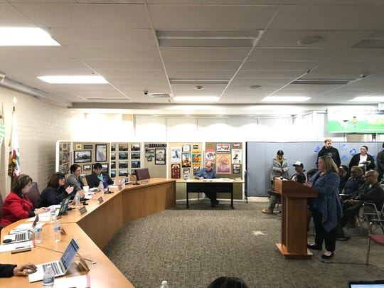 The Salinas City Elementary School board voted against having school resource officers in district schools Monday.