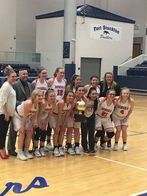 The Sonora High School girls basketball team won a Class 3A bidistrict playoff game Monday at Fort Stockton, 40-22, against Presidio.