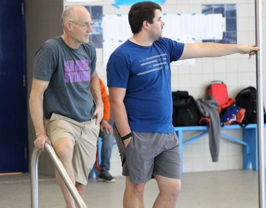 San Angelo Central head swimming coach David Hague and assistant Matt McLaughlin are preparing their athletes for the UIL state meet Friday and Saturday in Austin. Hague is ending a 41-year run with the Bobcats.