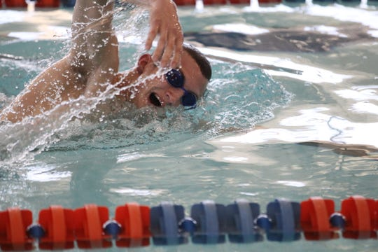 San Angelo Central's Riley Hill competed in three events in the UIL state swim meet this past weekend in Austin.