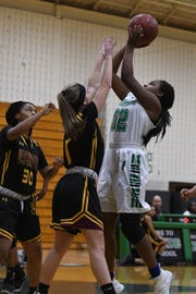 Parkside's Jacqueline Wright with the jumper during the game against Washington on Monday, Feb. 12, 2019.