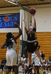 Washington's Madison Carey scored her 1000th point on Monday, Feb 12, 2019 against Parkside High School.