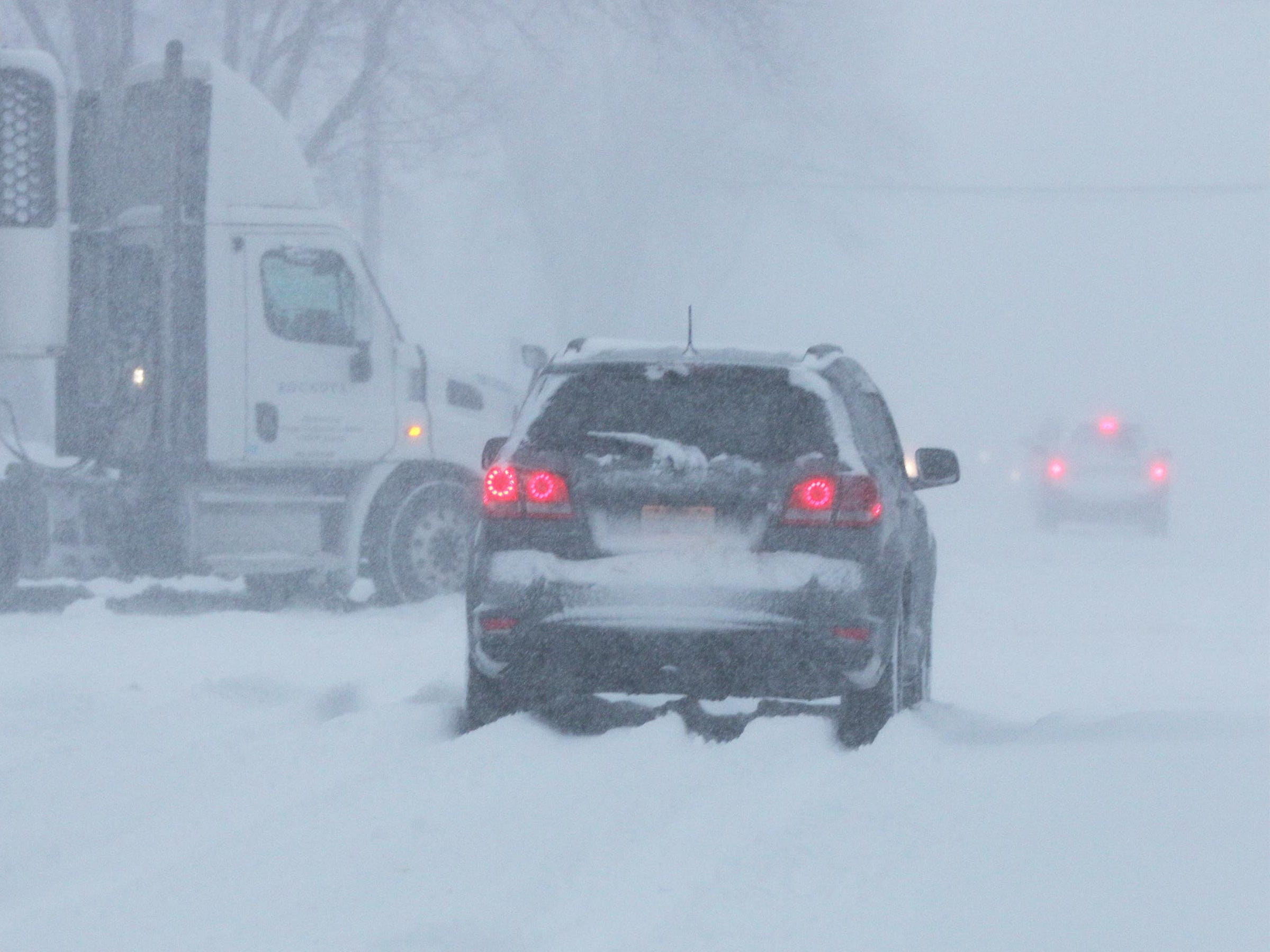 Visibility was limited on North 23rd Street by Kohler Memorial Drive, Tuesday in Sheboygan.