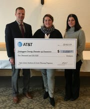 """The Sheboygan County Chamber of Commerce received a $5,000 AT&T contribution to support its """"Explore Your Future"""" program."""