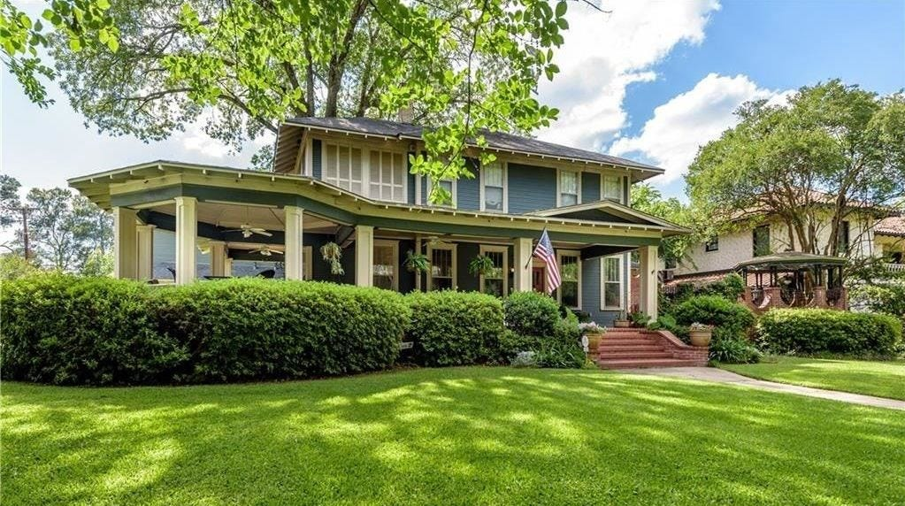 4634 Fairfield Avenue sits on a corner lot on one of Shreveport's coveted street addresses.