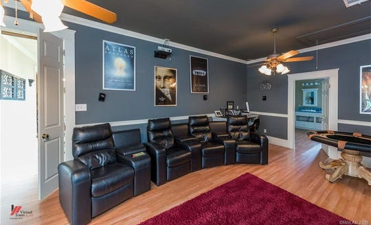 Enjoy movie night in the theater room