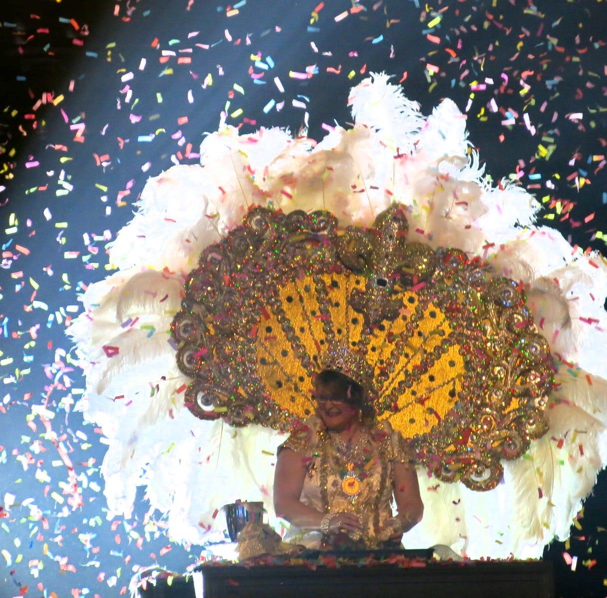 50 lbs. of confetti flew through the air at Krewe Centaur Grand Bal XXVIII