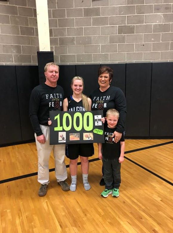 Florence/Henry senior Morgan Roe scored her 1,000th point against Waverly-South Shore on Feb. 2.