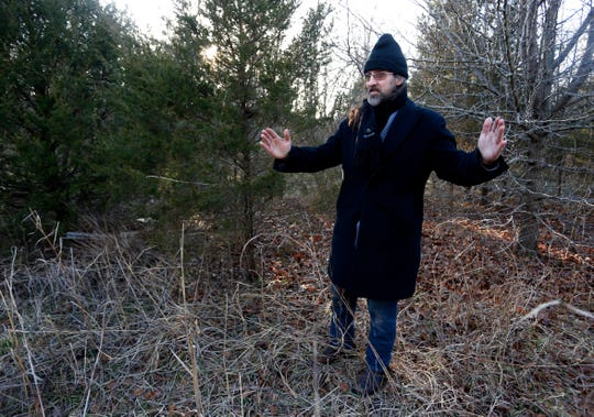 Zeb Thomas talks about the size of a bobcat he spotted when he went outside to watch a herd of eight deer in his backyard.