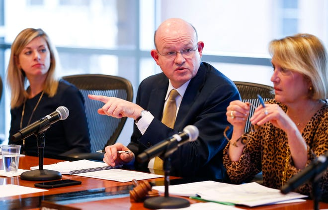 Hal Higdon, chancellor of Ozarks Technical Community College, updated the OTC Board of Trustees on the state funding outlook in early February. Last week, the board voted to increase tuition for next year.