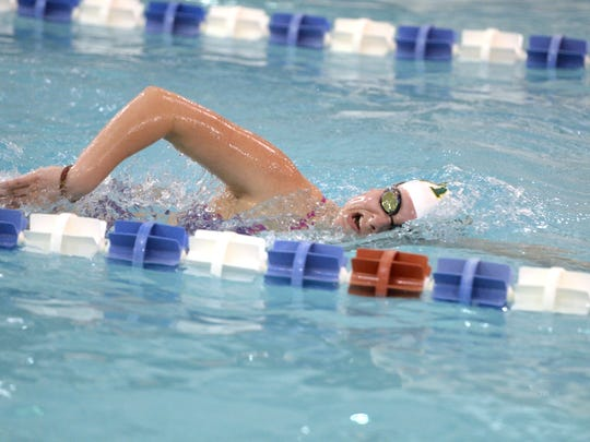 Wilson Memorial swimmer Cameron Murie practices at the Augusta Health Fitness pool in Fishersville last week. She will be competing in the VHSL state swim meet Thursday.