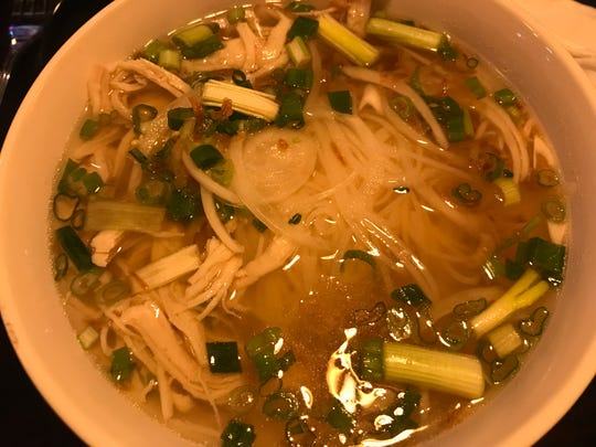 Pho Vietnamese Cuisine serves up large bowls of traditional pho, and its chicken pho has a depth of savory and bright flavors.