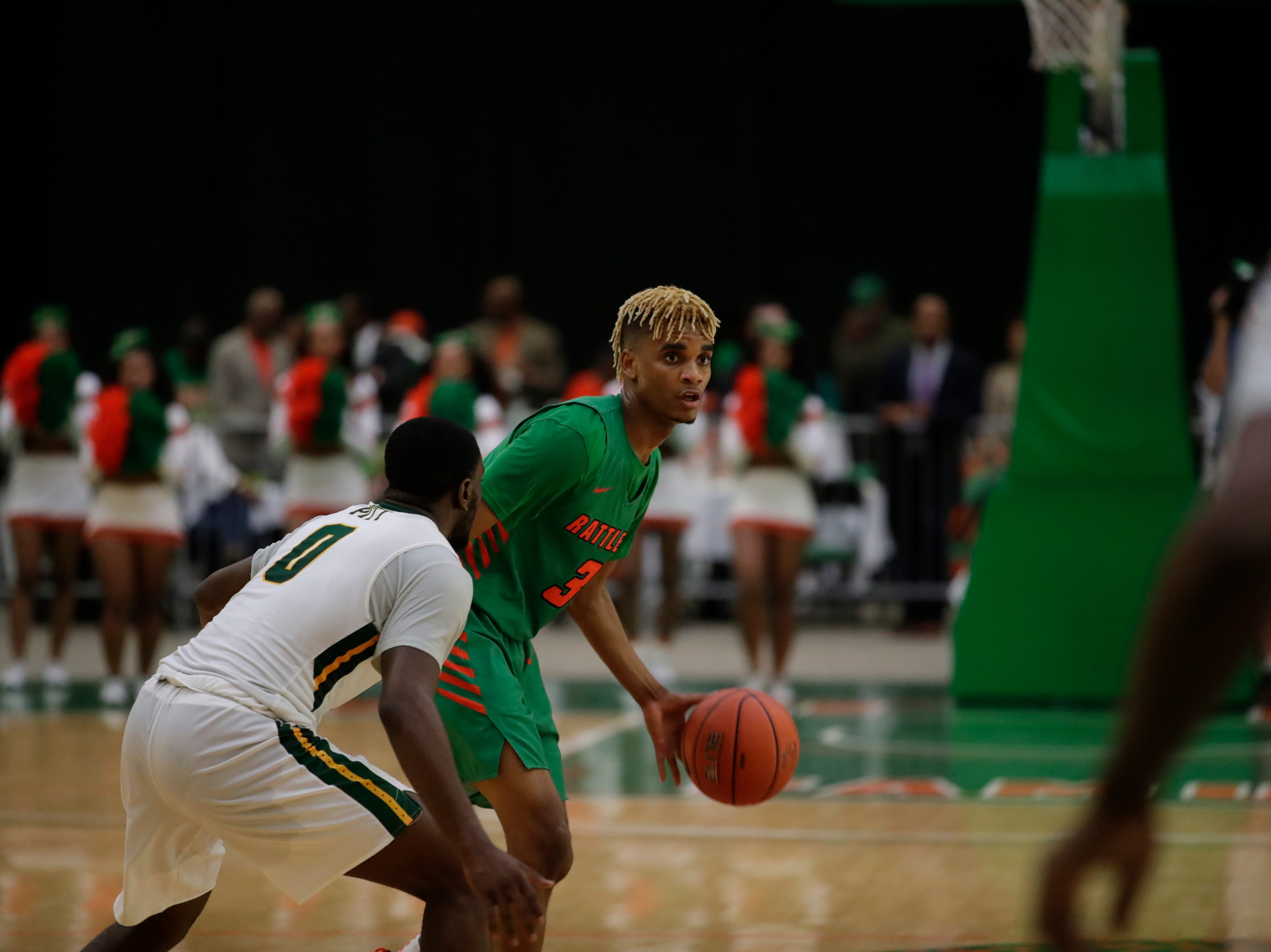 FAMU's M.J. Randolph had 9 points against Norfolk State at the Alfred Lawson Jr. Multipurpose Center Monday, Feb. 11, 2019.