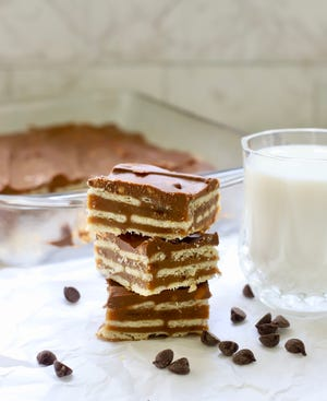 Crispy homemade dessert mimics Kit Kat bars.