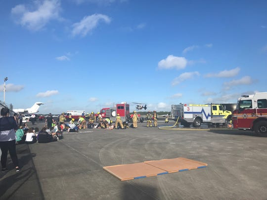 A disaster exercise is being held this morning at the Vero Beach Regional Airport.