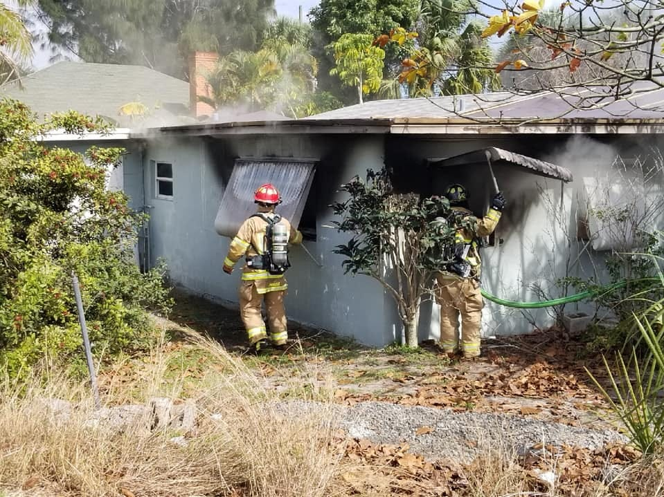 Firefighters responded to a house fire on Central Avenue in Stuart Feb. 12, 2019.