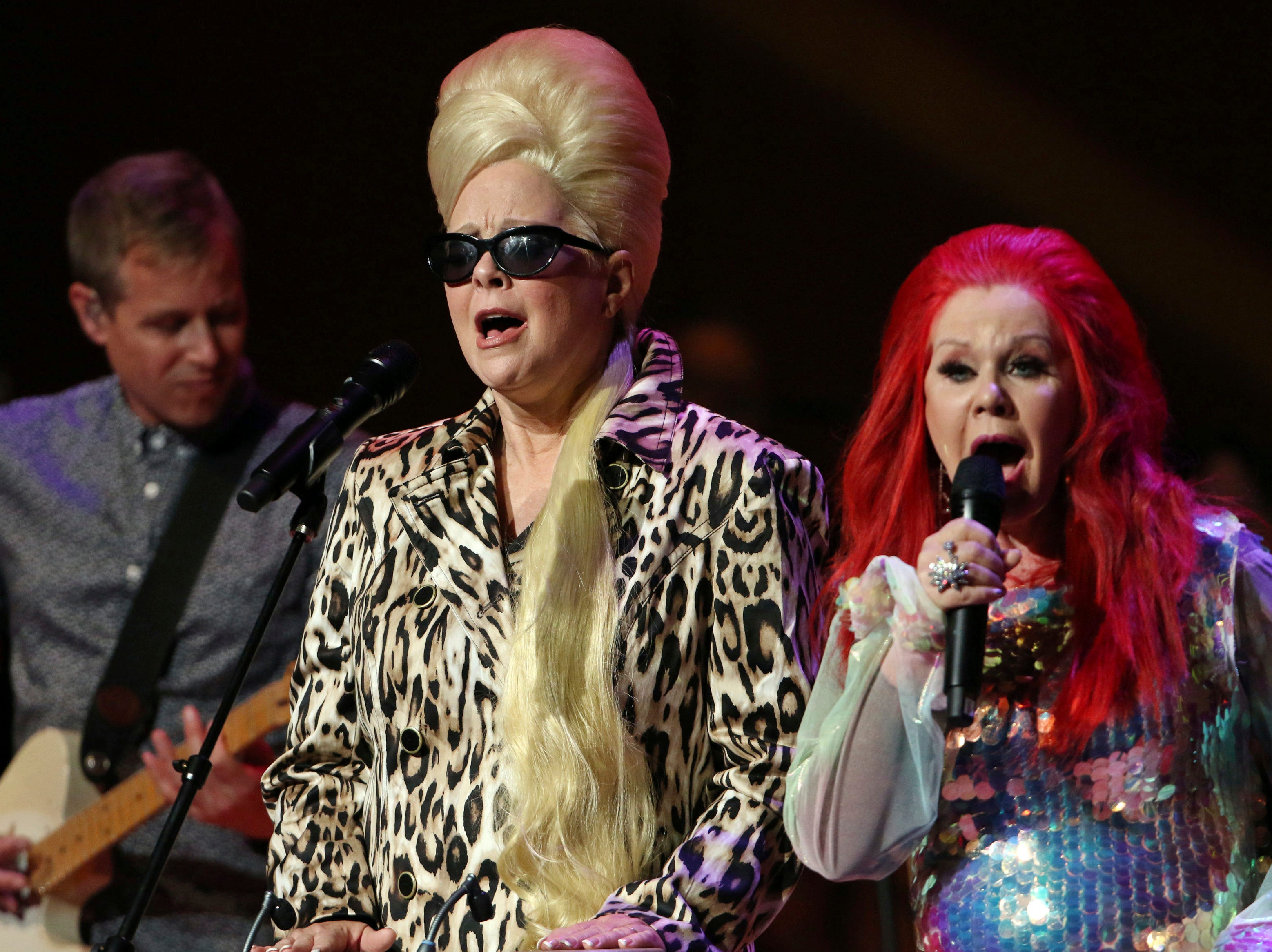 Kate Pierson and Cindy Wilson with The B-52s perform Sept. 14, 2017, at Atlanta Symphony Hall. The B-52s will perform at SunFest in West Palm Beach.