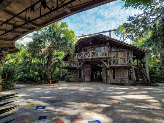 The Hall of Giants and Spanish Kitchen at McKee Botanical Garden were restored to their original conditions as part of the $9 million purchase and renovation project that started in 1995.