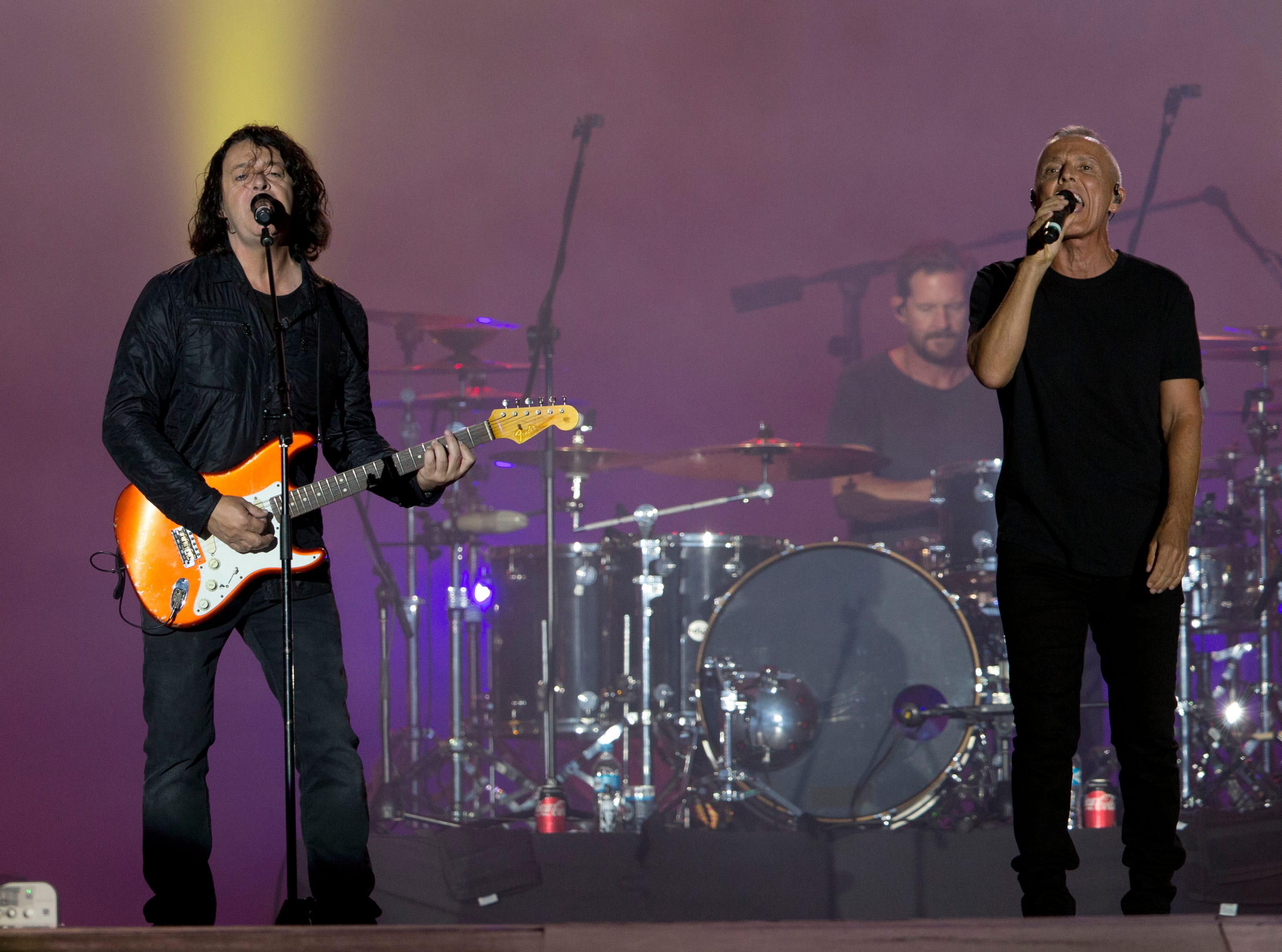 Curt Smith (right) and Roland Orzabal of Tears for Fears perform Sept. 22, 2017, at the Rock in Rio music festival in Rio de Janeiro, Brazil. Tears for Fears will perform at SunFest in West Palm Beach.